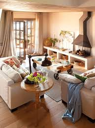 warm and cozy spanish interior with beautiful outside view