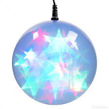 multi color holographic starfire sphere led lights