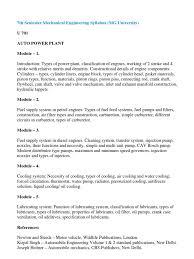 7th semester mechanical engineering syllabus mg university