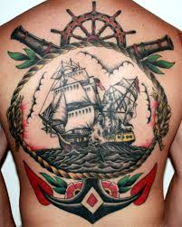 fabulous old navy tattoo on full back