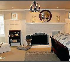 painting a fireplace white amazing makeover of a date red brick