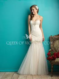 romantic drop waist mermaid tulle embroidered lace sweetheart
