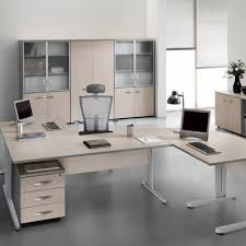 bureau chene clair bureau chêne clair aluminium mobilier de bureau papeterie