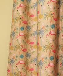 Nursery Curtain Fabric by A Retro Modern Pink Flamingo Themed Nursery For Baby Retro