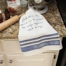 Catholic Home Decor Mother Teresa Try Dish Towel The Catholic Company