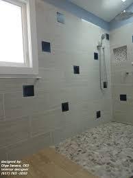 river rock floor tile bathroom contemporary with bathroom remodel