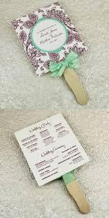 Make Wedding Programs How To Make Wedding Program Fans Diy Wedding Program Fans