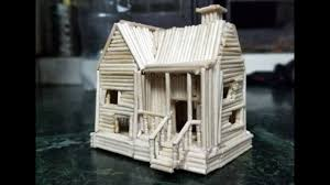 toothpick house how to make a toothpick house youtube