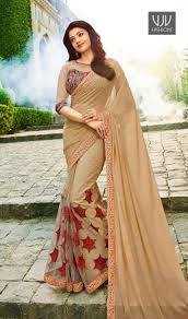 color designer kajal agarwal beige color designer saree fashion and style always