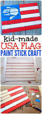 Made In China American Flags American Flag Kids Paint Stick Craft Wooden American Flag