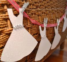 Wedding Shower Decorations by Mini Wedding Dress Garland Paper Bridal Shower Decoration