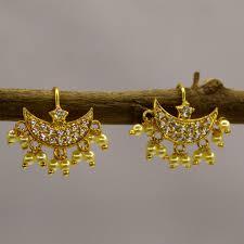 bugadi earrings bugadi with white pearl sonchafa