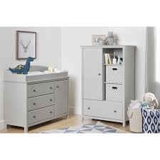 south shore cotton candy changing table with drawers soft gray south shore cotton candy armoire in soft gray 10469