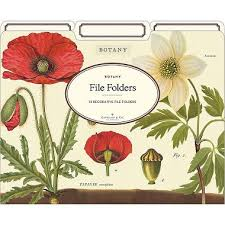 cavallini file folders cavallini botany file folders paper source