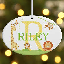 christmas ornaments with initials personalized christmas ornaments for kids at personal creations