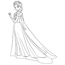 fever frozen elsa coloring pages sketch coloring