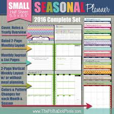 printable planner pages for 2015 the polka dot posie how to print assemble our small planner pages