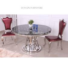 marble top stainless steel frame dining table marble top