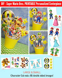 super mario bros printable centerpiece mario birthday