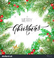 merry christmas holiday hand drawn quote stock vector 760211149