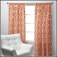 Contemporary Orange Curtains Designs Peachy Burnt Orange Curtain Panels Contemporary Window Chintz