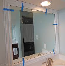 Bathroom Mirror Frame by Frame Around Bathroom Mirror Kavitharia Com
