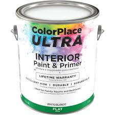 color place ultra flat interior white paint and primer 1 gal