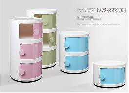 mini nightstand plastic circular locker multi function receive ark