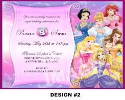 Invitation Card For 1st Birthday Princess Themed Birthday Invitation Cards Birthday Card Invitations