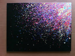 Make Purple Paint Paint Splatter Canvas Art I Need To Try This I Would Pick The