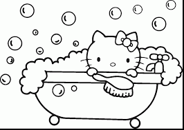 coloring pages kitty easter coloring pages