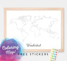Madagascar Blank Map by Custom Blank Coloring World Map Print Poster Outline Map Of