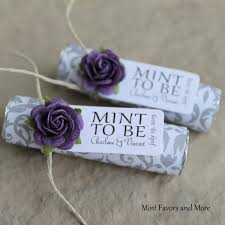 mint to be wedding favors unique wedding favors purple wedding favors mint to be mints
