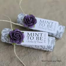party favors for weddings unique wedding favors purple wedding favors mint to be mints
