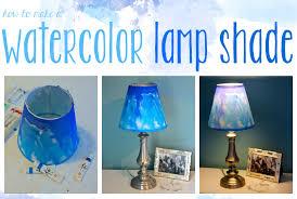 Diy Lamp Shade with Diy Watercolor Lampshade Youtube