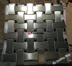 Metal Wall Tiles Kitchen Backsplash 3d Mosaic Silver Metal Tile Kitchen Tiles Backsplash Smmt090
