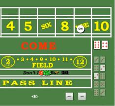 Craps Table Odds Card Craps Ev Discount Gambling