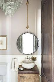 hanging mirror in bathroom instead of fighting the architecture a