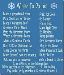 corner winter to do list ideas of things to do in the