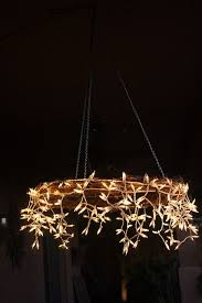 Hoop Chandelier I Like This Better Than The Hoop Chandelier A Grapevine Wreath A
