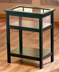black glass top end tables new black glass top display case end table or coffee table display