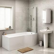 1700mm right hand shower bath p shaped bath tub with screen u0026amp