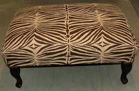 animal print bench zebra cushion ottoman u2013 lebensversicherungkaufen