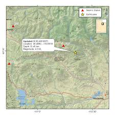 Map Of U Mag 4 1 Near Strawberry Reservoir Utah U Of U Seismograph Stations