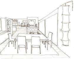 how to draw a room with perspective drawing tutorial of a living