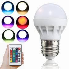 e27 led rgb bulb 3w smd 5630 color changing 24 keys ir remote