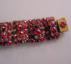 red links bracelet images Bohemian garnet links bracelet morning glory jewelry antiques jpg