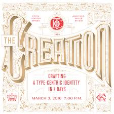 the creation crafting a type centric identity in 7 days the