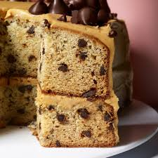 banana chocolate chip cake with peanut butter frosting recipe