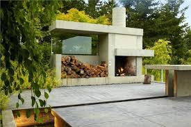 outdoor fireplace modern build your own kit you kits
